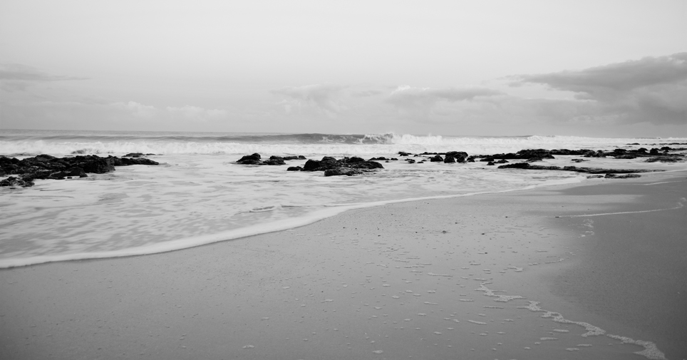 Jeffreys bay in black and white - photo