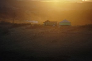 Hut in the sunset in the Transkei