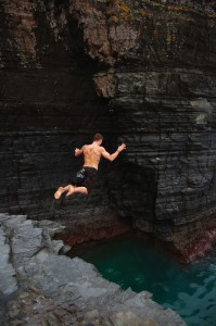 Cliff Jumping in the Transkei