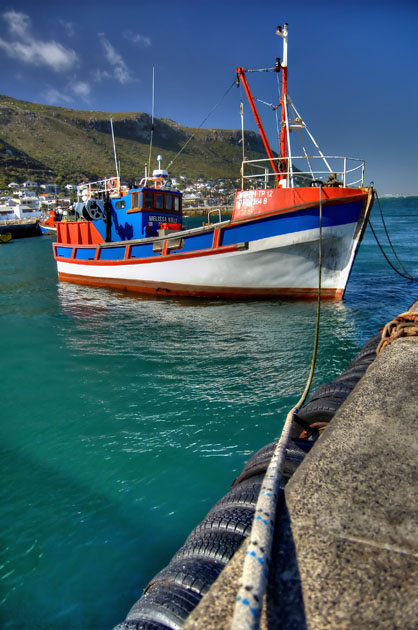 Fishing boat at kalk bay harbour bevan langley for Head boat fishing near me